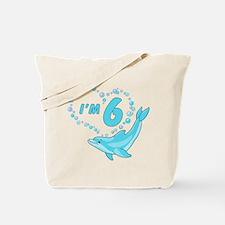 Dolphin Heart 6th Birthday Tote Bag