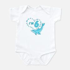 Dolphin Heart 6th Birthday Infant Bodysuit