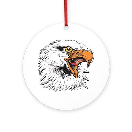 Eagle Head Ornament (Round)