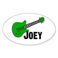 Guitar - Joey Oval Decal