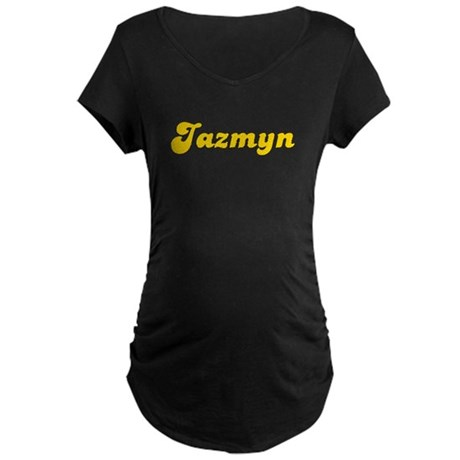 Retro Jazmyn (Gold) Maternity Dark T-Shirt