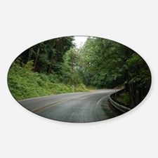 Windy Road Oval Decal