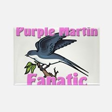 Purple Martin Fanatic Rectangle Magnet