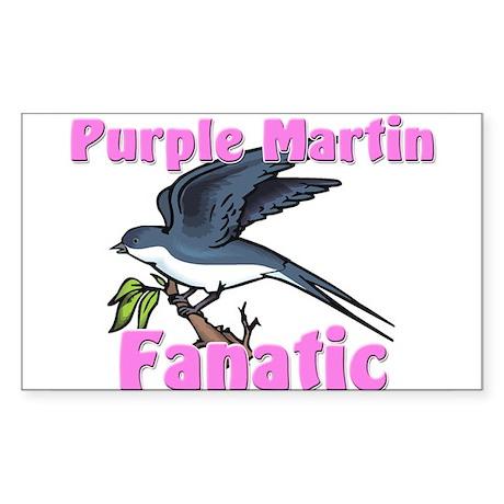 Purple Martin Fanatic Rectangle Sticker