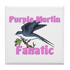 Purple Martin Fanatic Tile Coaster