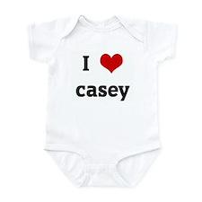 I Love casey Onesie
