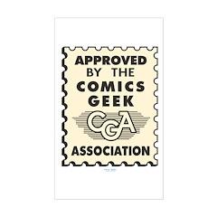 Comics Geek Association Rectangle Decal