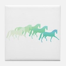 extended trot greens Tile Coaster