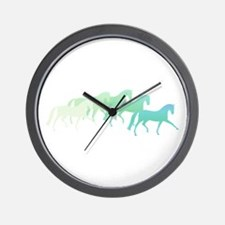 extended trot greens Wall Clock