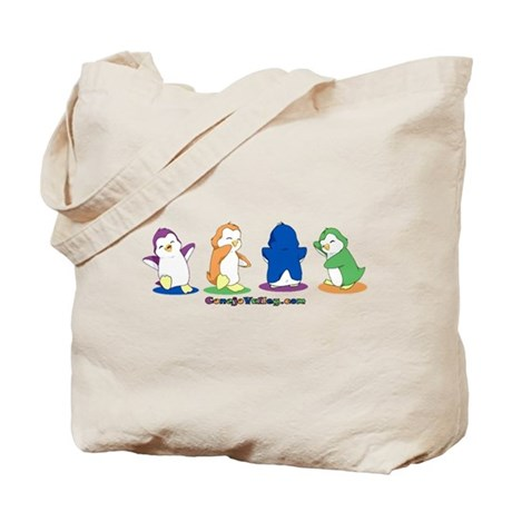 Dancing Penguins Tote Bag