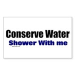 Shower With Me Rectangle Sticker
