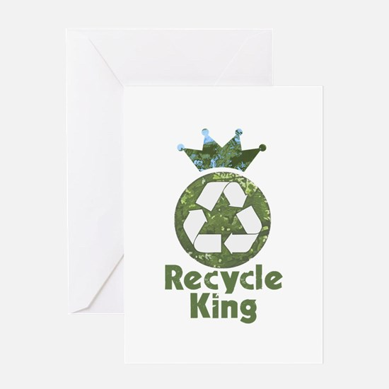 Recycle King Greeting Card