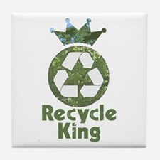 Recycle King Tile Coaster