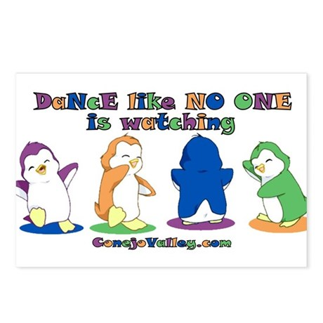 Dance Like No One is Watching Postcards (Package o