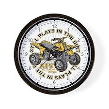 Dirt ATV Wall Clock