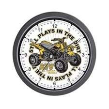 Plays in the Dirt ATV Wall Clock