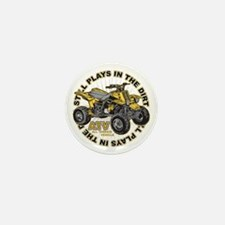 Plays in the Dirt ATV Mini Button