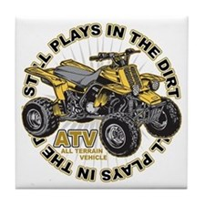 Plays in the Dirt ATV Tile Coaster