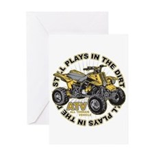 Plays in the Dirt ATV Greeting Card