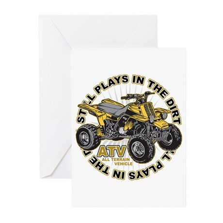 Plays in the Dirt ATV Greeting Cards (Pk of 10)