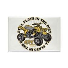 Plays in the Dirt ATV Rectangle Magnet