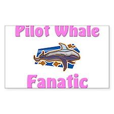 Pilot Whale Fanatic Rectangle Decal