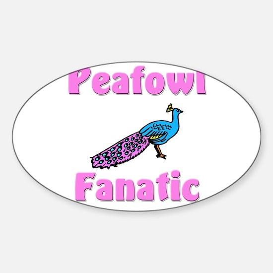 Peafowl Fanatic Oval Decal