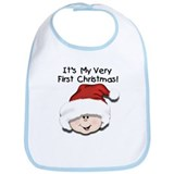 Baby first christmas Cotton Bibs