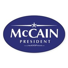 """John McCain 2008"" Oval Decal"