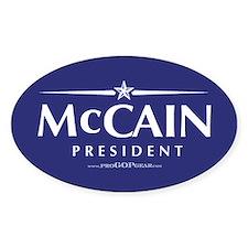 """John McCain 2008"" Oval Decal"