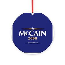 """John McCain 2008"" Ornament (Round)"