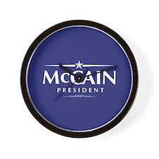 """""""John McCain 2008"""" Wall Clock"""