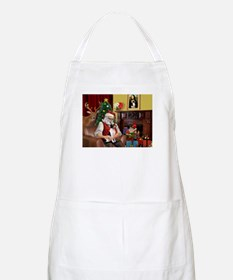 Santa & Toy Fox Terrier BBQ Apron