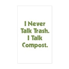 Talk Compost Rectangle Bumper Stickers