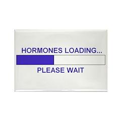 HORMONES LOADING... Rectangle Magnet (100 pack)