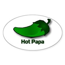 Jalapeno Hot Papa Oval Decal