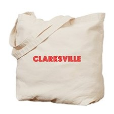 Retro Clarksville (Red) Tote Bag