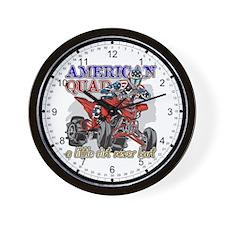 American Quad Wall Clock