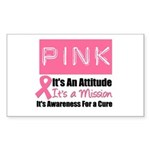 Breast Cancer Mission Rectangle Sticker 10 pk)