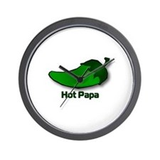 Jalapeno Hot Papa Wall Clock
