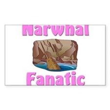 Narwhal Fanatic Rectangle Sticker