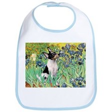 Irises & Toy Fox Terrier Bib