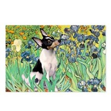 Irises & Toy Fox Terrier Postcards (Package of 8)