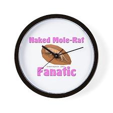 Naked Mole-Rat Fanatic Wall Clock