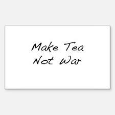 Make Tea Not War Rectangle Decal