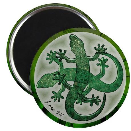 """""""Green salamanders"""" 2.25"""" Magnet (1"""