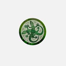 """Green salamanders"" Mini Button"