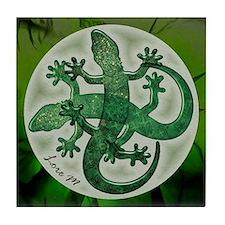 """""""Green salamanders"""" Tile Coaster"""