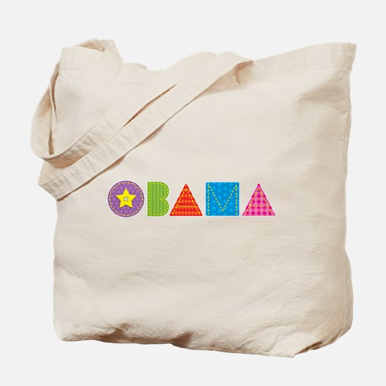 Quilted Obama Tote Bag