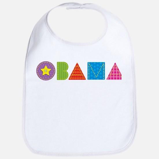 Quilted Obama Bib